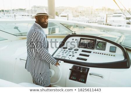 молодые · красивый · моряк · человека · вождения - Сток-фото © deandrobot