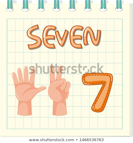 Flashcard letter S is for seven Stock photo © bluering