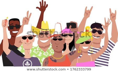 Stock photo: Cheering Crowd. EPS 8