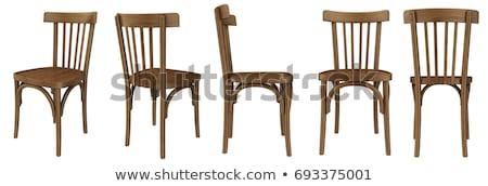 Vecchio sedia di legno abbandonato stanza legno home Foto d'archivio © ankarb