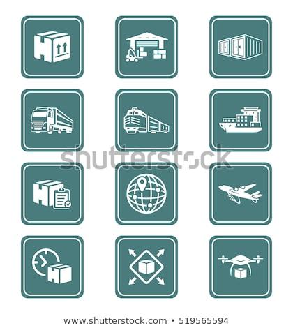 logistics icons teal series stock photo © sahua