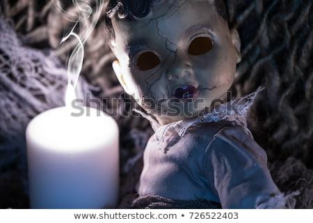 怖い 人形 黒白 ショット プラスチック 目 ストックフォト © hamik