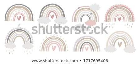 coração · arco-íris · gotas · líquido · branco · água - foto stock © blackmoon979