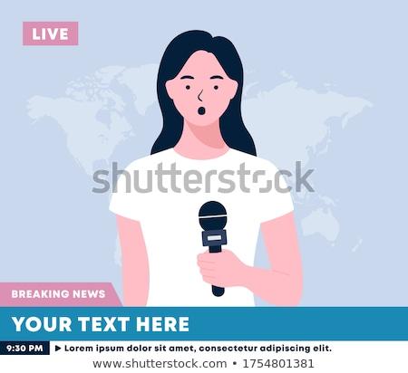 Female television anchorwoman vector illustration. Stock photo © RAStudio