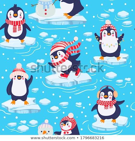 冬 凍結 海 氷 ブロック 冷たい ストックフォト © Klinker