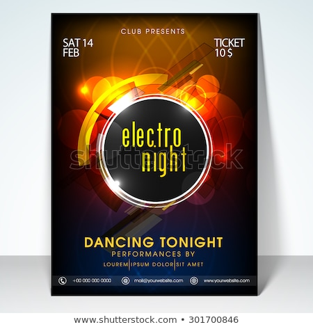 beautiful electro club party flyer template design Stock photo © SArts