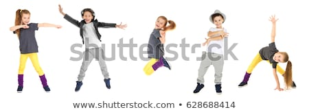 Kislány tánc aranyos fehér lány gyerekek Stock fotó © Mikko