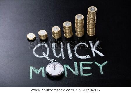 snel · geld · spaargeld · rekening · spaarvarken · bevestigd - stockfoto © andreypopov