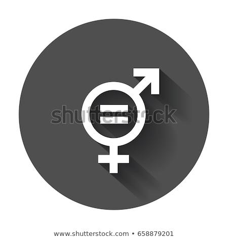 sexe · égalité · illustration · signe · rouge · graphique - photo stock © nito