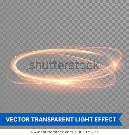 abstrato · luxo · dourado · brilho · anel · transparente - foto stock © sarts