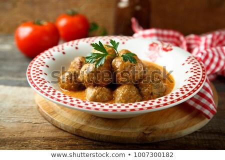 ミートボール · 辛い · トマト · サルサ - ストックフォト © monkey_business
