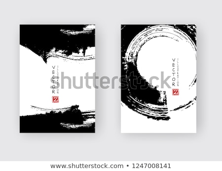 Sammlung rot Tinte splatter Vektor Textur Stock foto © SArts