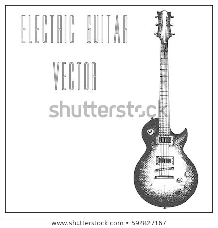 黒 ブルース ギター グランジ 岩 ロール ストックフォト © Bigalbaloo