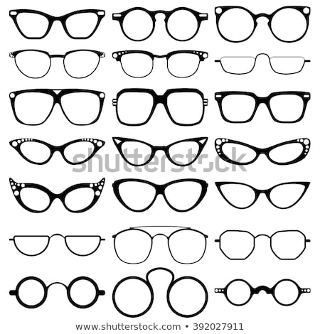eye sight round shape icon stock photo © tefi