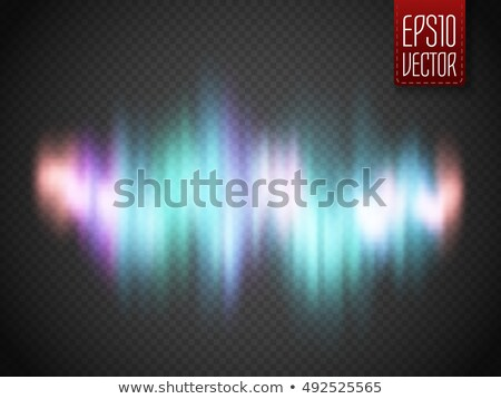 White glowing light. Northern light polar effect Stock photo © pakete