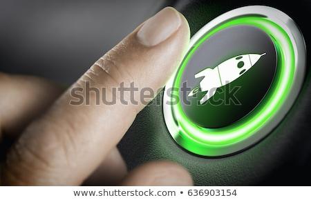 groene · bedrijf · auto · afbeelding · zakenman · rijden - stockfoto © olivier_le_moal
