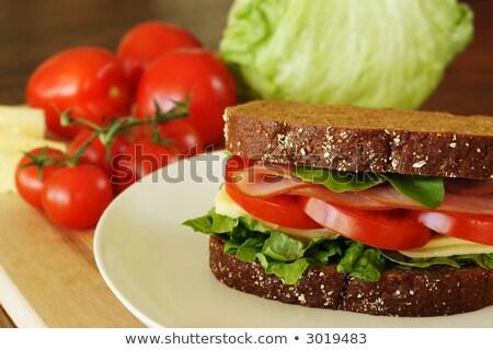 ветчиной хлеб тонкий Ломтики мяса Сток-фото © Digifoodstock