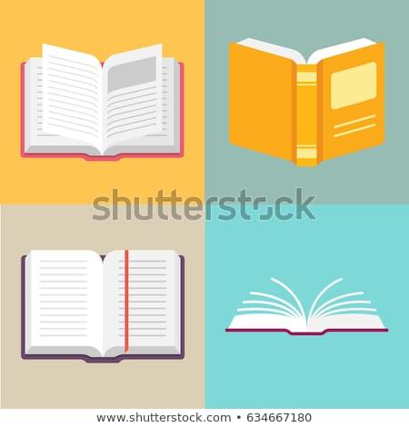 Open · boek · witte · illustratie · licht · achtergrond - stockfoto © andrei_