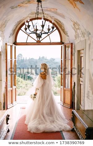 Maakt · een · reservekopie · bruid · vrouw · meisje · bruiloft - stockfoto © tekso