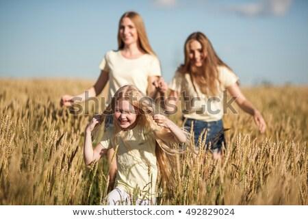 матери · запустить · пшеницы · счастливым · женщину - Сток-фото © chesterf