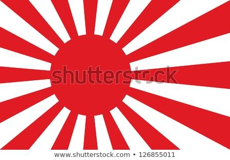 Vintage Japan Flag Poster Background Stock photo © benchart