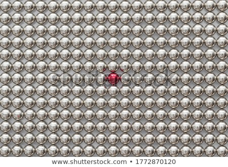 the neocube spheres with red sphere stock photo © oakozhan