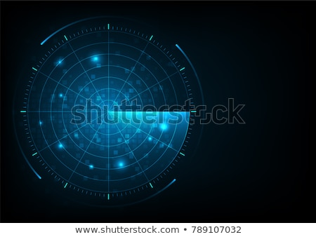 Military Radar Screen Vector. Targets On Military Background. Stock photo © pikepicture