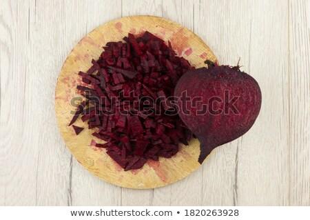 remolacha · chips · frescos · casero · placa · la · luz · natural - foto stock © digifoodstock
