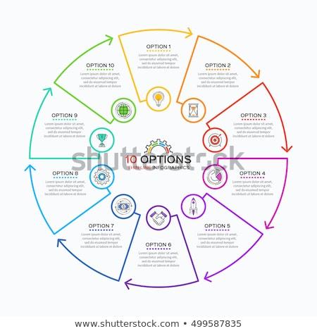 Delgado línea infografía plantilla pasos círculo Foto stock © orson