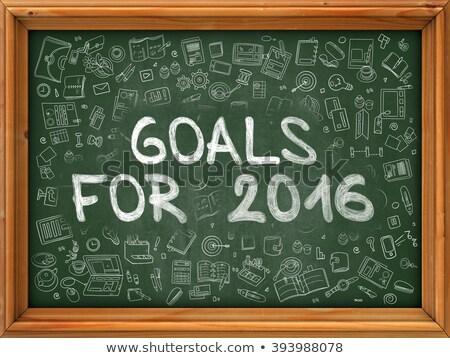 Goals for 2016 Concept. Doodle Icons on Chalkboard. Stock photo © tashatuvango