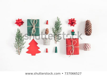 Traditional Christmas decoration with vintage xmas toys stock photo © dariazu