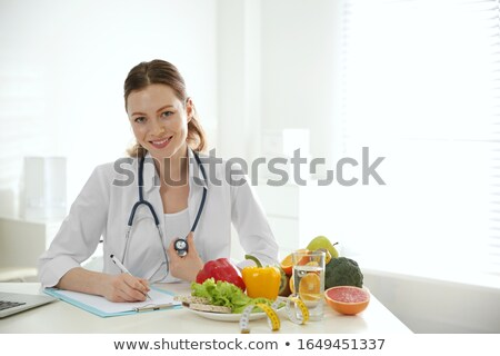 weight in the form of text in work Stock photo © Olena