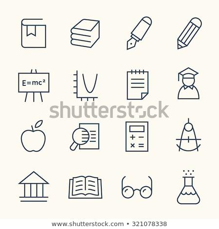 Algebra Line Icons Set Stock photo © Voysla