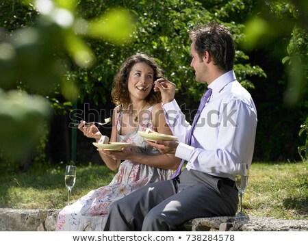 結婚式 · 食べ · ケーキ · 女性 · 家族 · 男 - ストックフォト © is2