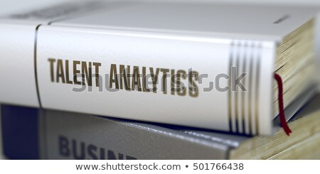 Stockfoto: Talent · analytics · boek · titel · 3D