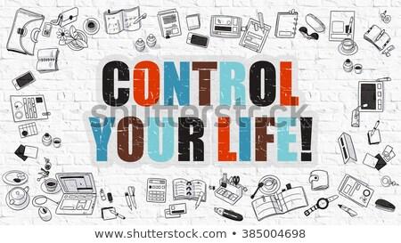 Multicolor Manage Your Life on White Brickwall.  Stock photo © tashatuvango