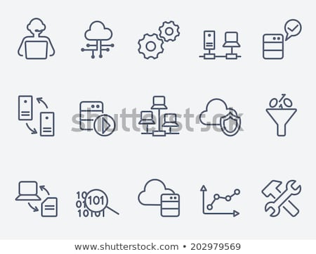 Computer network line icon. Stock photo © RAStudio