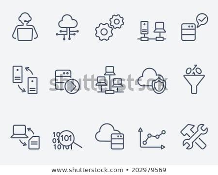 vektor · webes · ikon · illusztráció · disztribúció · tranzakció · ikon - stock fotó © rastudio
