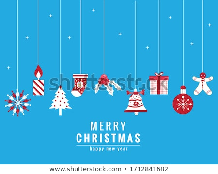 blue background with christmas winters socks Stock photo © SArts