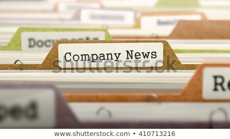 company news   folder name in directory stock photo © tashatuvango