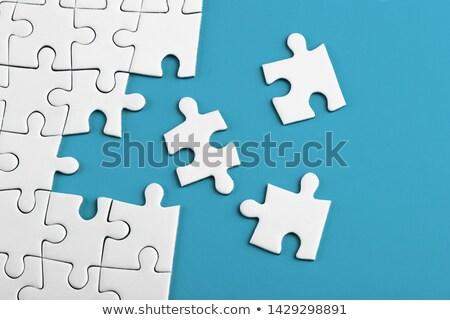 色 パズル ミッション パズルのピース 文字 価値観 ストックフォト © Oakozhan