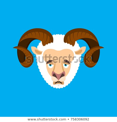 悲しい 顔 アバター 羊 家畜 ストックフォト © popaukropa