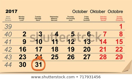 31 halloween takvim tarih hatırlatma form Stok fotoğraf © orensila