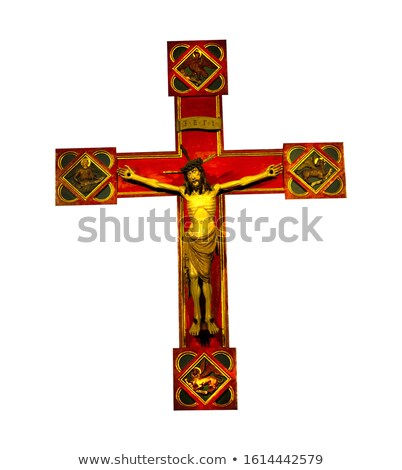 Golden Cross Isolated. Orthodox symbol of gold Stock photo © popaukropa