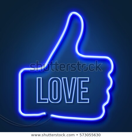 Neon realistic word LOVE for advertising. 3D Stock photo © user_11870380