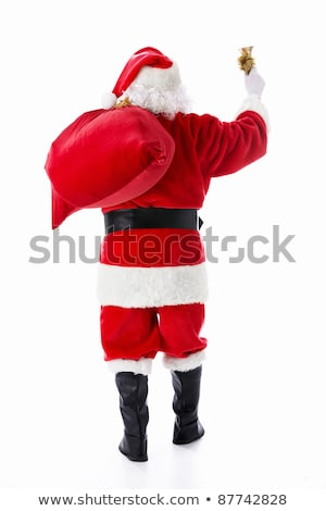 santa claus with bell isolated on white christmas new year backg stock photo © nikodzhi