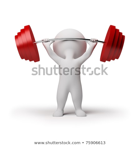 3d small people - weightlifting Stock photo © AnatolyM