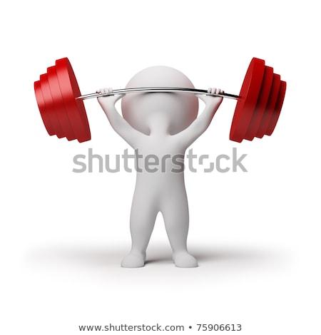 筋肉 · 男 · 3dのレンダリング · 現実的な · 4 · ポイント - ストックフォト © anatolym