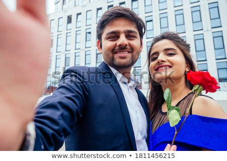 Couple flirting in Business center Stock photo © IS2