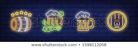 I Like Beer Neon Sign Stock photo © Voysla
